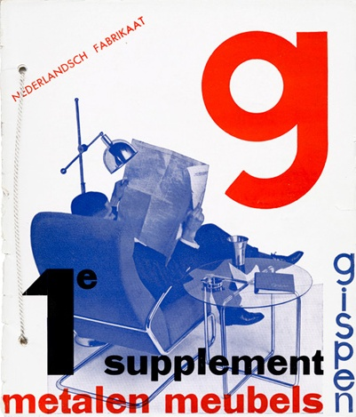 By Paul Schuitema, catalogue for Gispen, manufacturers of tubular metal furniture, Rotterdam.
