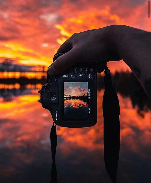 разве как на телефон сфотографировать закат был сделан время
