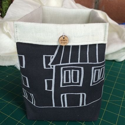 Fabric Storage Tubs by diddums. $45 for a set of 2.