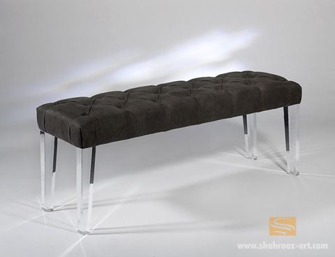 lucite leg bench benches pinterest chairs benches and cats. Black Bedroom Furniture Sets. Home Design Ideas