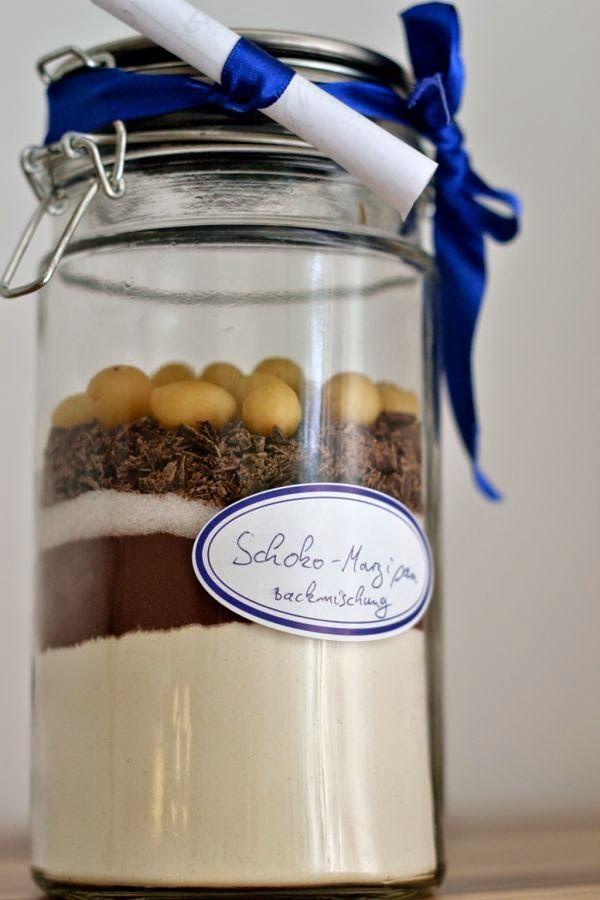 Geschenkidee: Schoko-Marzipan-Backmischung (vegan)