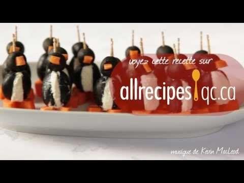 Pingouins au fromage à la crème - YouTube