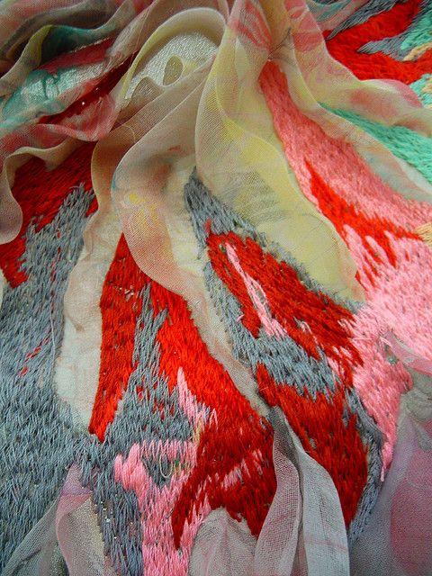 Best textile art images on pinterest