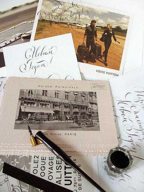 Каллиграфия для Луи Виттон   Calligraphy for Louis Vuitton.   Flickr - Photo Sharing!