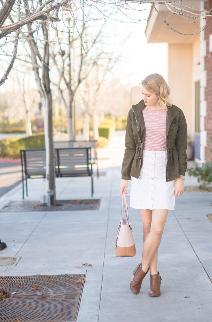 1000  ideas about White Denim Skirt on Pinterest | Denim mini ...