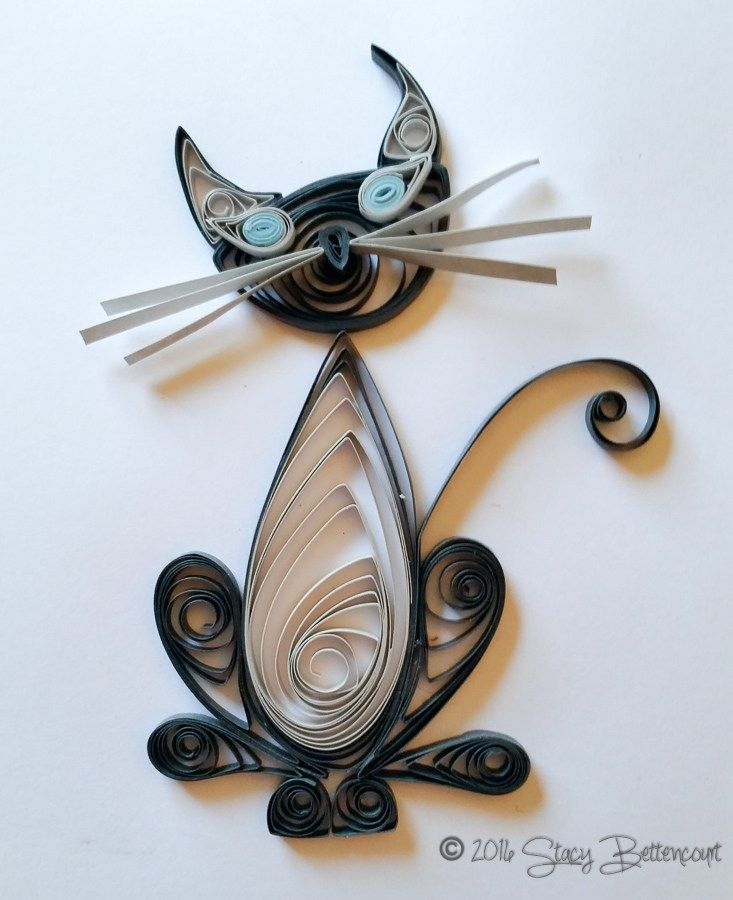 Quilled Blue Point Cat #quilling #siamese #cat #sealpoint