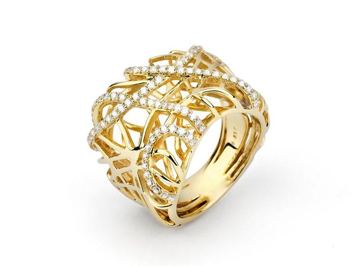 Facet Barcelona #diamond Bird's Nest ring #gold #brittspick