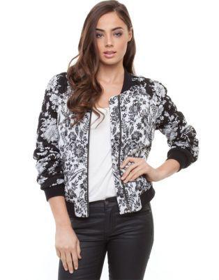 Bardot - Floral Bomber Jacket - Coats