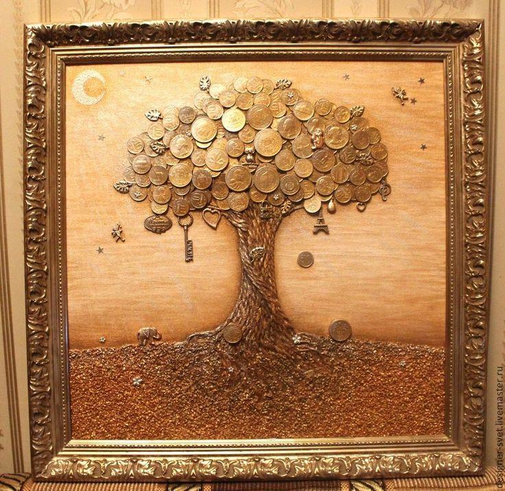 Купить Денежное дерево - символ удачи, процветания, финансового благополучия - золотой, год, удача, успех, гармония