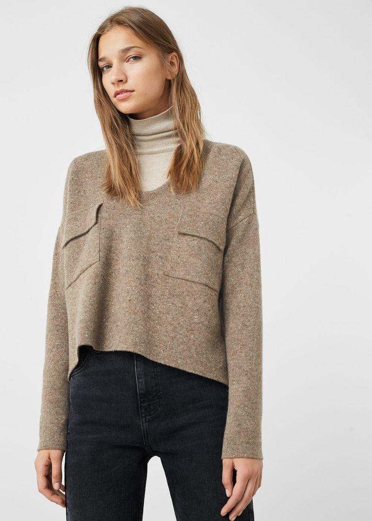 Ulltröja med fickor - Koftor och varma tröjor för Damer   MANGO Sverige