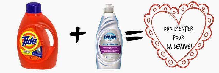 La fois où j'ai mis du #Dawn dans mon lavage!  Saviez-vous que le Dawn (oui, oui, le savon à vaisselle!) faisait des miracles dans une machine à laver?