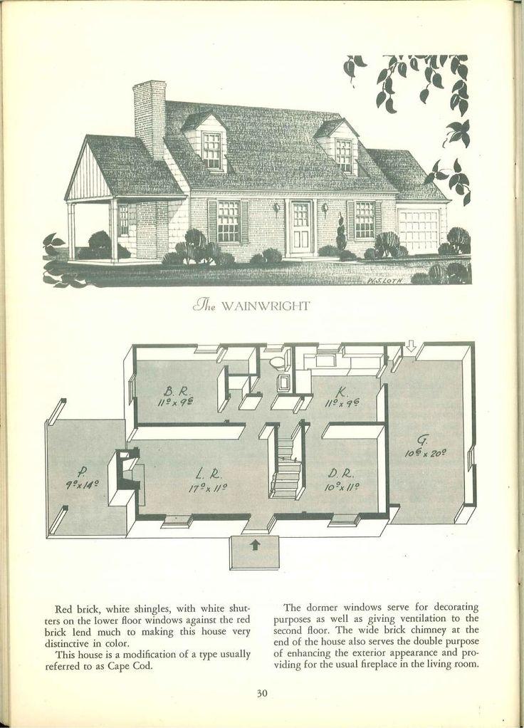 347 best VinTagE HOUSE PlanS1940s images – Vintage Home Floor Plans