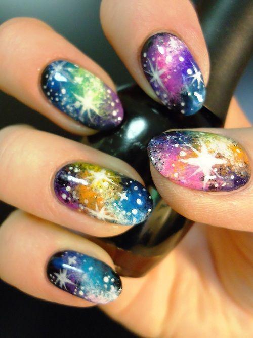 19 Amazing Rainbow Nail Art Designs | Pretty Designs