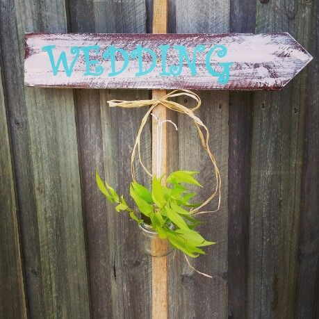 Wedding timber direction sign www.facebook.com/mickeyssigns