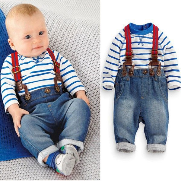 >> Click to Buy << Baby Boys Sets Toddler 2PCS Set T-shirt Top+Jeans Bib Pants Overall Outfis Baby Clothing QL #Affiliate