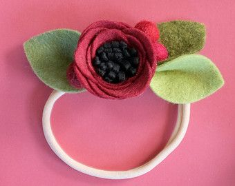 MUSTARD // single flower band or alligator clip by fancyfreefinery