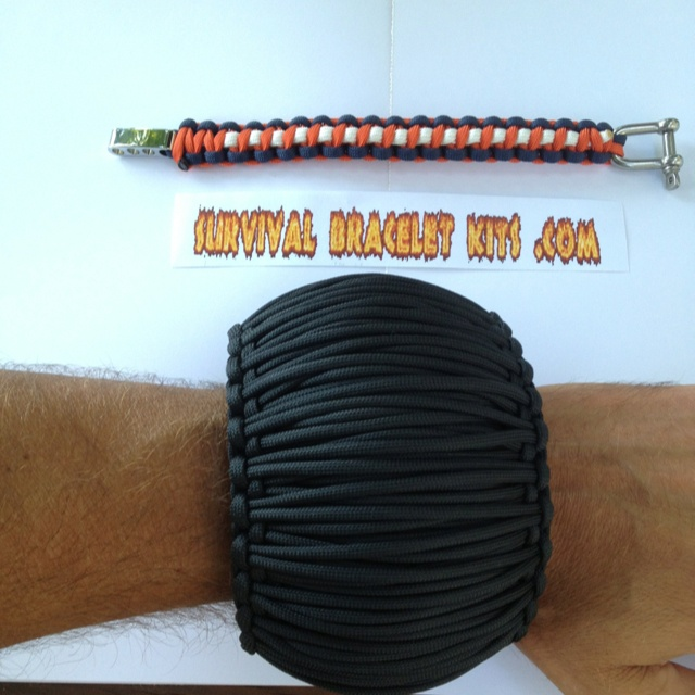 world 39 s largest paracord survival bracelet from
