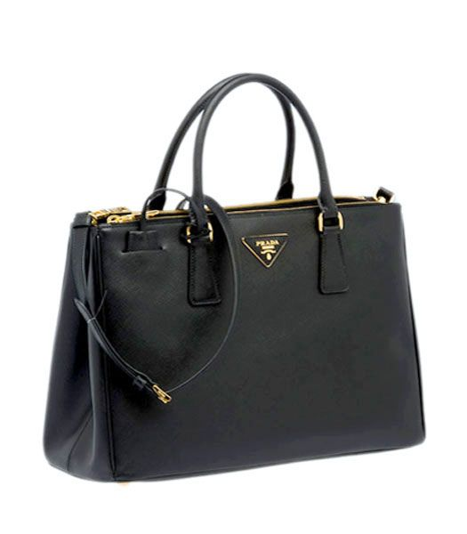 A gift to myself for getting hired and turning 22!Prada Saffiano Black Calfskin Leather Tote