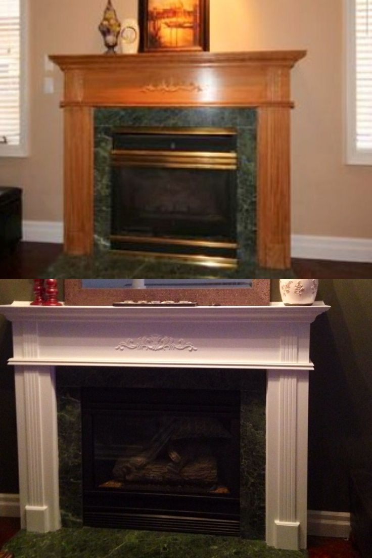 Fireplace redo with paint and high heat resistant spray paint looks great and inexpensive!