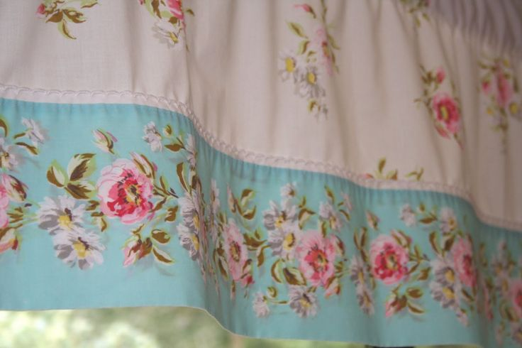 DIY:: Lovely Shabby Chic Curtains from Sheets ! Great , Inexpensive idea with Tutorial !