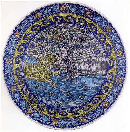 """Sıtkı Olçar was born in Kütahya in 1948 and inspried by the soil of his native land became possionately bound to tiles. In 1973 he started up his own studio called """"Osmanlı Çini"""". He pursued his work in tiling and ceramics without making any concessions form his art......"""