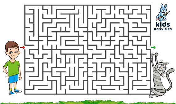 Free Printable Mazes For Kids Puzzle For Children Easy Maze For Preschoolers Printable Mazes Med Mazes For Kids Printable Mazes For Kids Puzzles For Kids Maze worksheets for kindergarten
