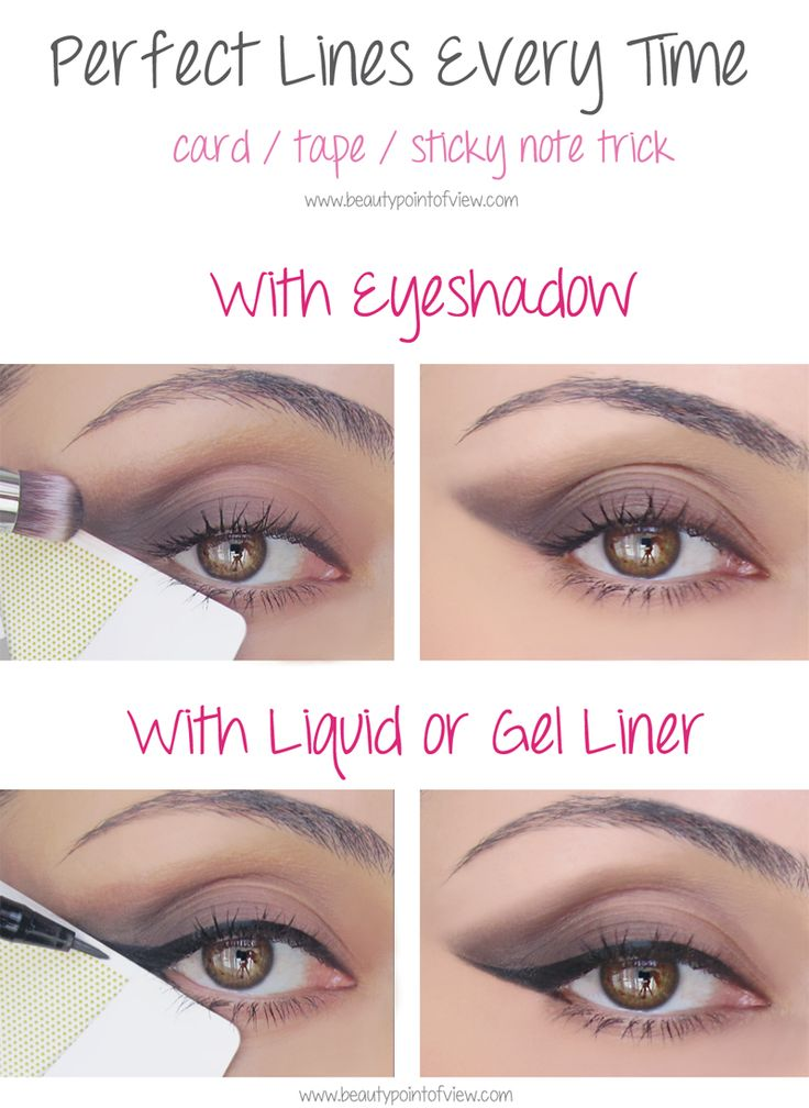 Genius! Eye Makeup Tricks - must know!  Beauty Point Of View #makeup #beauty #tips #tutorial
