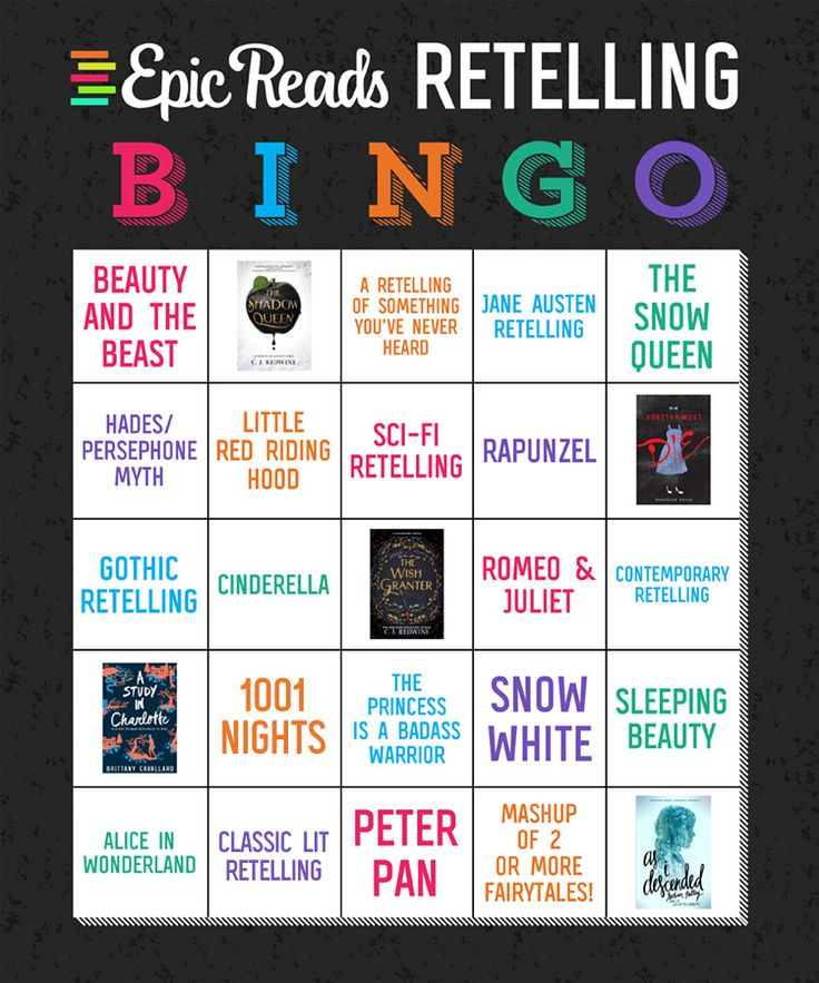 Check out the official Epic Reads Retelling Bingo card! There are so many retellings so it's time to play a little YA bingo with us!
