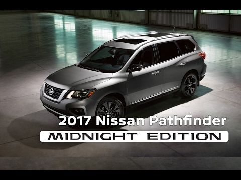 "2017 Nissan Pathfinder Midnight Edition features exclusive black 20"" dark aluminum wheels, black mirror caps & more. http://snip.ly/ue5l8"