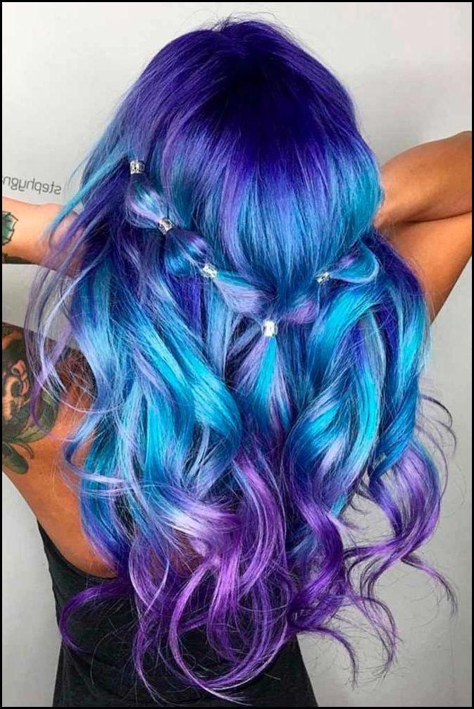 21 Trendy Styles For Blue Ombre Hair Haar Bunte Haare Und Haar