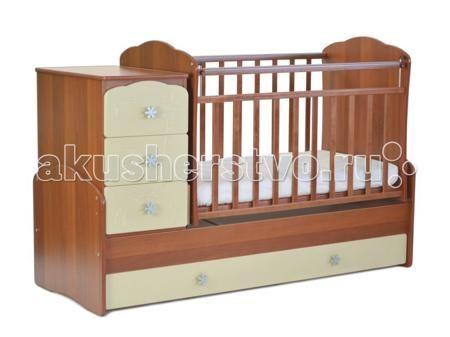 СКВ Компани СКВ-9 Жираф маятник поперечный  — 8765р. -----------  Кроватка-трансформер СКВ Компани СКВ-9 Жираф маятник поперечный это кровать-трансформер с поперечным маятниковым механизмом. подходит для детей с рождения до 10 лет кроватка с комодом трансформируется в подростковую кровать. Фасады из крашеной МДФ с забавной фрезеровкой в виде жирафа.  Комод можно установить как с правой, так и с левой стороны. Два нижних выдвижных ящика на направляющих. Такая конструкция удобна тем, что не…