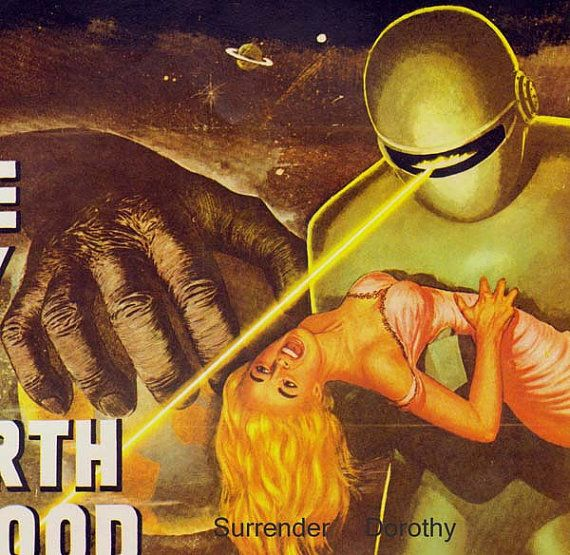 Day The Earth Stood Still 1950s Sci Fi Horror Movie Poster Full Color Advertisement USA Lithograph To Frame Science Fiction on Etsy, $13.89