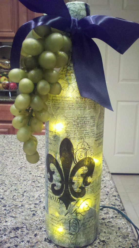 1000  Images About Wine Bottle Lights On Pinterest
