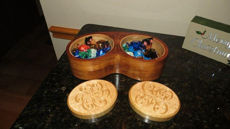 Candy box from vectric website made cherry and maple