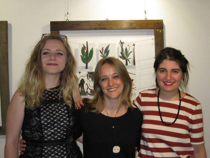 Con Gioia e la gallerista di Mirror, Teresa Giffone