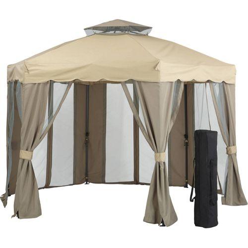 Steel-Gazebo-Hexagonal-Patio-Outdoor-Round-Canopy-Shelter-Garden-Pavilion-12x12