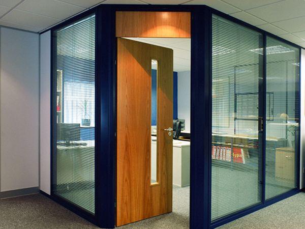 Relocatable partitioning door and overpanel