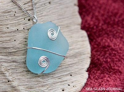 Create a simple piece of sea glass jewelry that will certainly garner attention from your friends.