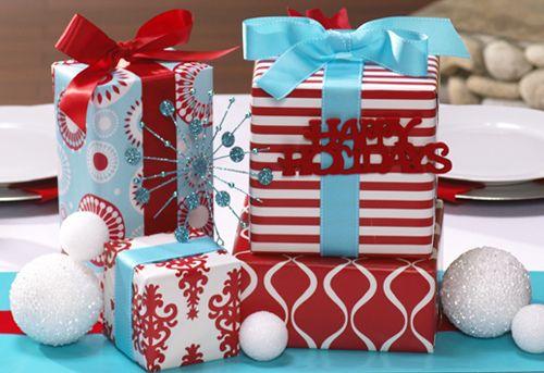 Christmas Gifts Centerpiece by Jennifer Sbranti