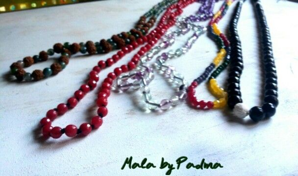 Mala, necklace, agathe, onyx, fluorite, amethyst, avventurine, rudra, spiritual jewellery, yoga jewels,by Padma Jewels