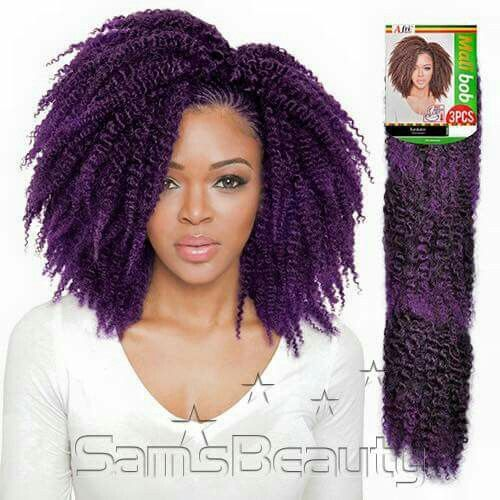 Various Crochet Hair Styles : The purple, Purple and Crochet braids on Pinterest