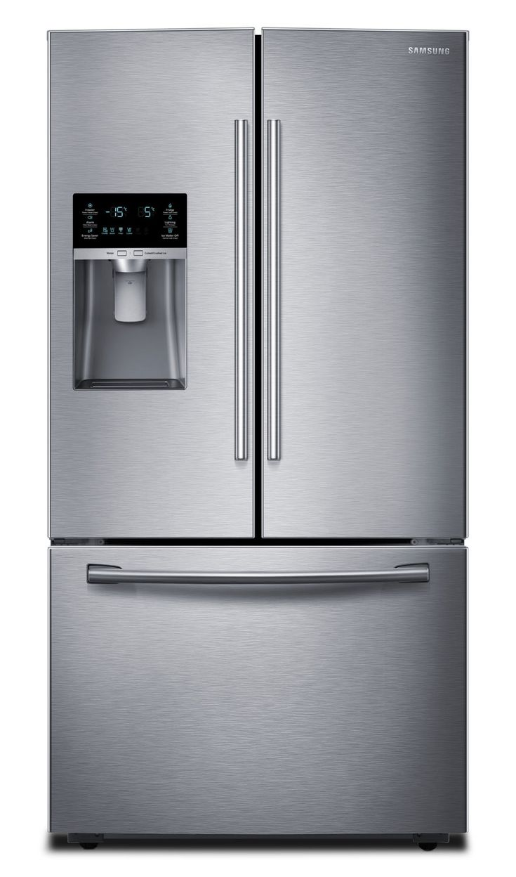 Refrigerators and Freezers - Samsung Stainless Steel French Door Refrigerator (22.5 Cu. Ft.) - RF23HCEDBSR