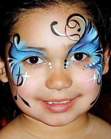 eye design face painting