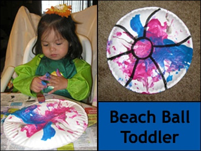 beach ball toddler craft
