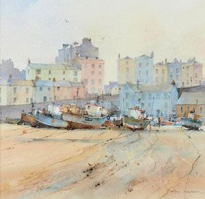 Artist: David Howell, PRSMA; Painting: Low water at Tenby