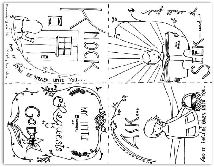 Ask Seek Knock Coloring Pages From Matthew 7 7 8 Sunday