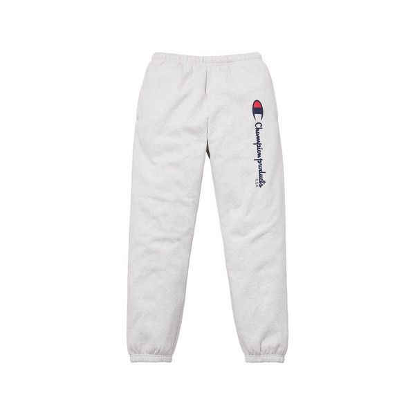 Supreme Supreme /Champion Sweatpant ($128) ❤ liked on Polyvore featuring activewear, activewear pants, champion activewear, white sweat pants, champion sportswear, white sweatpants and champion sweatpants