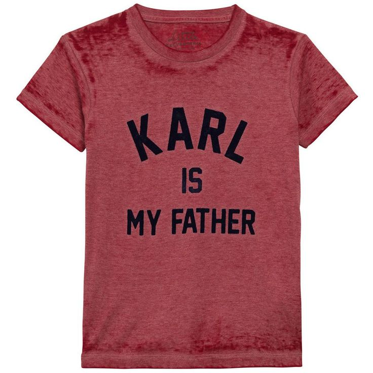 Eleven Paris Girls Red 'Karl Is My Father' T-shirt