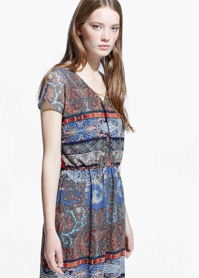 Paisley-jurk met hanger | MANGO
