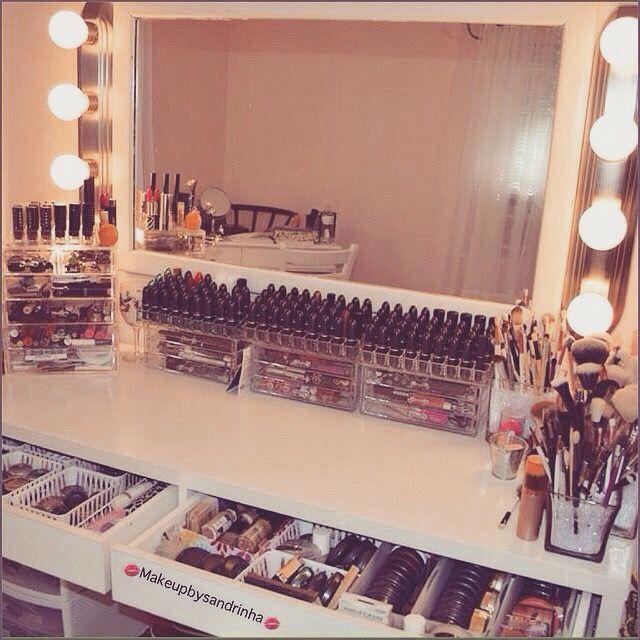 Makeup vanity setup                                                       …